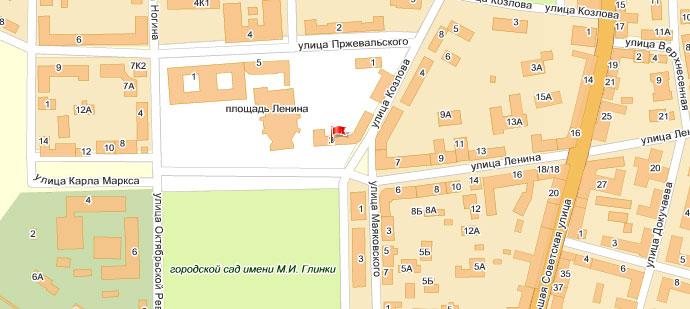 Схема проезда Smolensk Travel